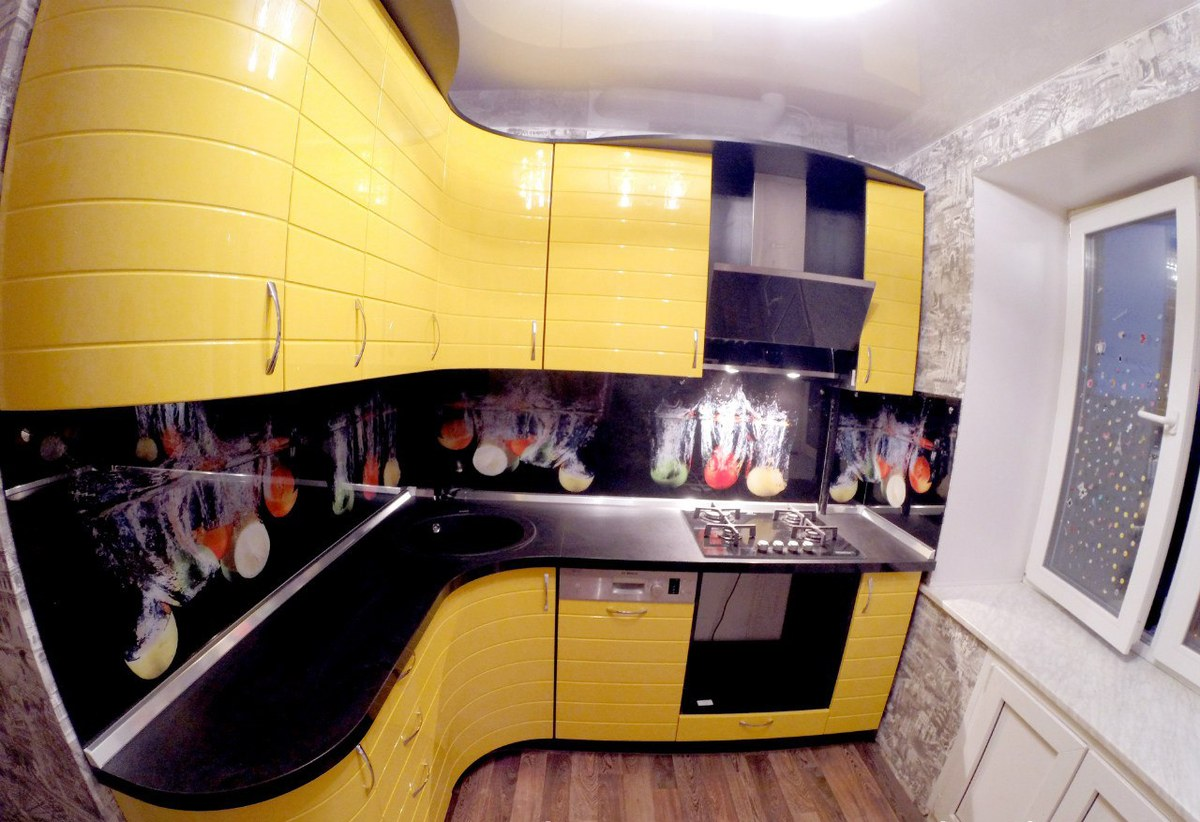Угловые кухни 7 метров дизайн
